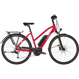 Vélo de trekking électrique Ortler Bozen - Pour femmes -  Cadre en trapèze - Rouge